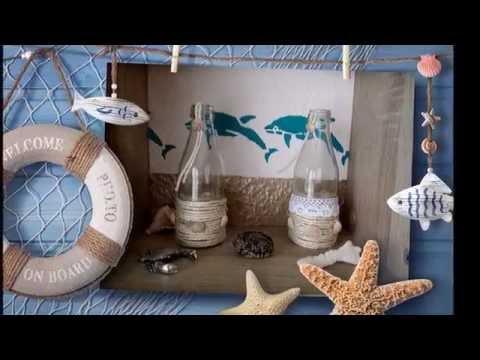 DIY  Maritime Dekoideen/ Glasflasche