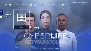 Detroit: Become Human 'CyberLife' Deluxe Edition PS4 Theme