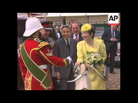 UK - Japanese emperor receives cold welcome