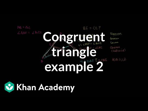 Congruent triangle example 2 | Congruence | Geometry | Khan Academy