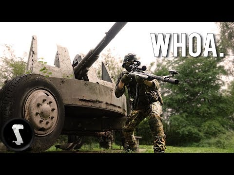 Airsoft at an Allied WW2 FORTRESS!!