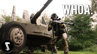 Airsoft Sniper at WW2 FORTRESS!!
