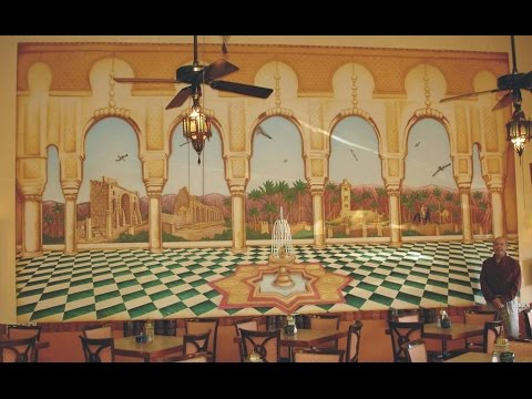 THE CASABLANCA RESTAURANT MURAL