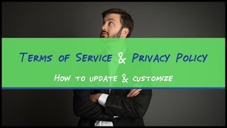How to update your Terms of Service and Privacy policy pages in Easy Blog In A Box