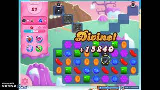 Candy Crush Level 1471 Audio Talkthrough, 2 Stars 0 Boosters