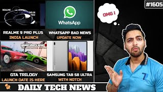 realme 9 Pro Plus😯,GTA Trilogy Launch Date & Price😍,WhatsApp Bad News,iQOO Android 12