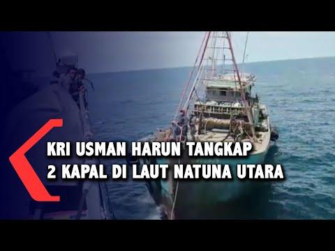 Detik-Detik Kapal KRI Usman Harun Tangkap 2 Kapal Asing Berbendera Vietnam