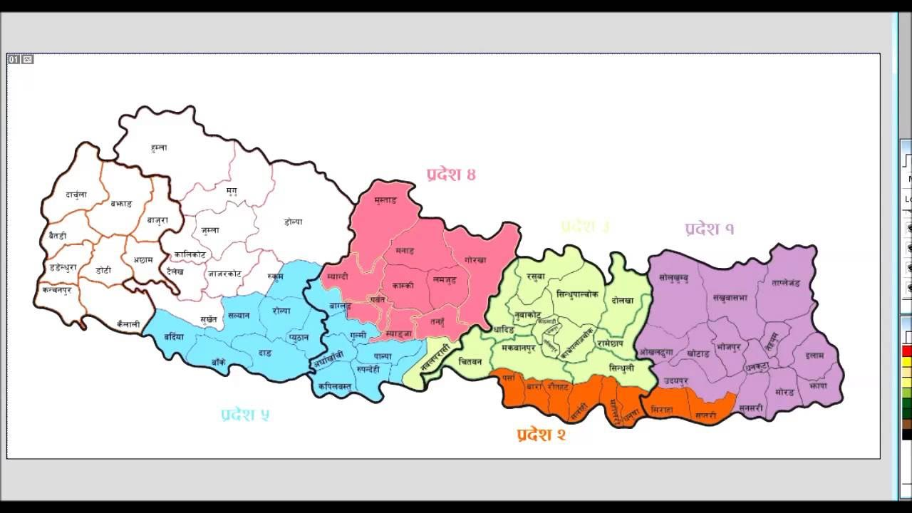 New Map Of Federal Democratic Republic Of Nepal YouTube - Nepal map