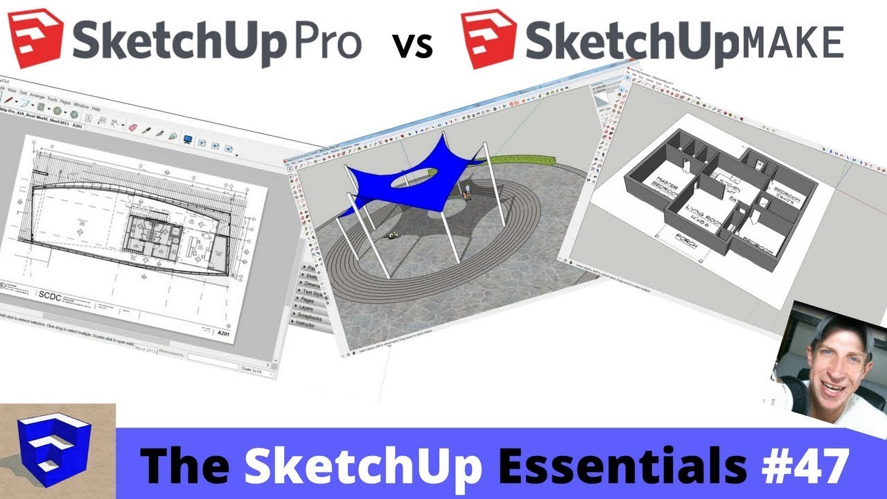 SketchUp Make vs  SketchUp Pro Comparison - The SketchUp