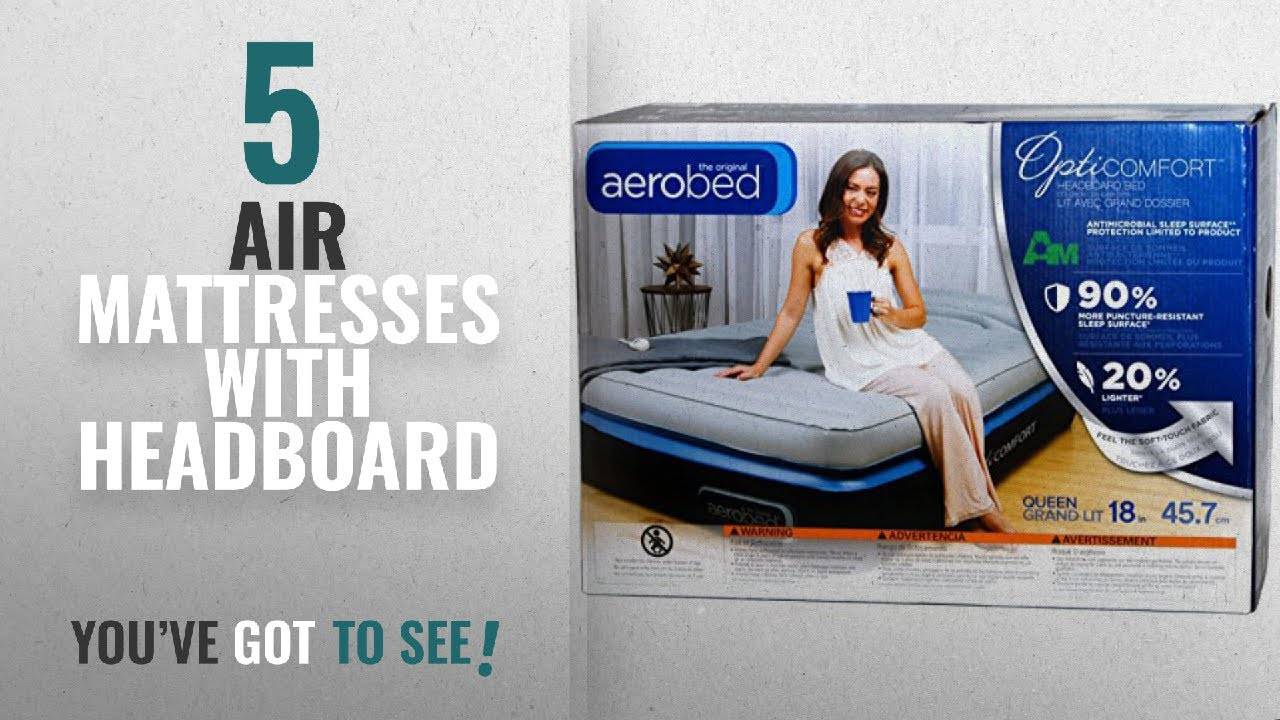 Top 10 Air Mattresses With Headboard 2018 Aerobed Queen Size 18