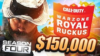 🔴 Welcome To SEASON 4! - $150,000 WARZONE TOURNAMENT (Royal Ruckus Day 1)