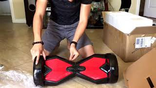 Black Red Hoverboard Lamborghini 8 Inch With Bluetooth, Led Lights