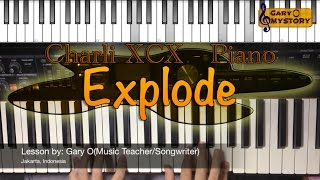 Charli XCX - Explode ANGRY BIRDS Movie OST Song Cover Easy Piano Tutorial FREE Sheet Music NEW 2016