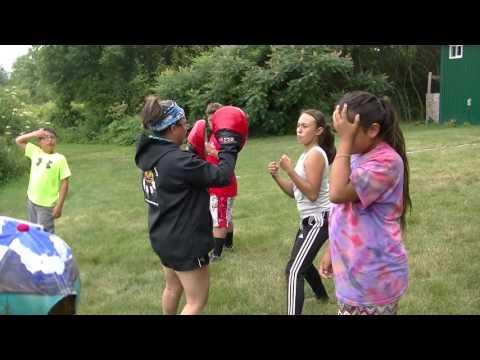 Basic Focus Mitt Drill, ASWCO-N7 Multi Sport Camp & Cultural Camp Akwesasne