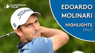 Edoardo Molinari Highlights | Round 2 | 2019 D+D Real Czech Masters