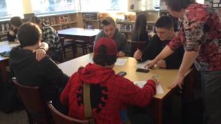 Senior and Freshman English Poetry Collaboration
