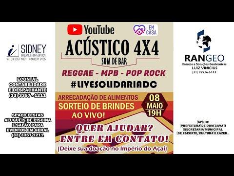 LIVE SOLIDÁRIA DC - ACÚSTICO 4X4 - REGGAE - MPB - POP ROCK