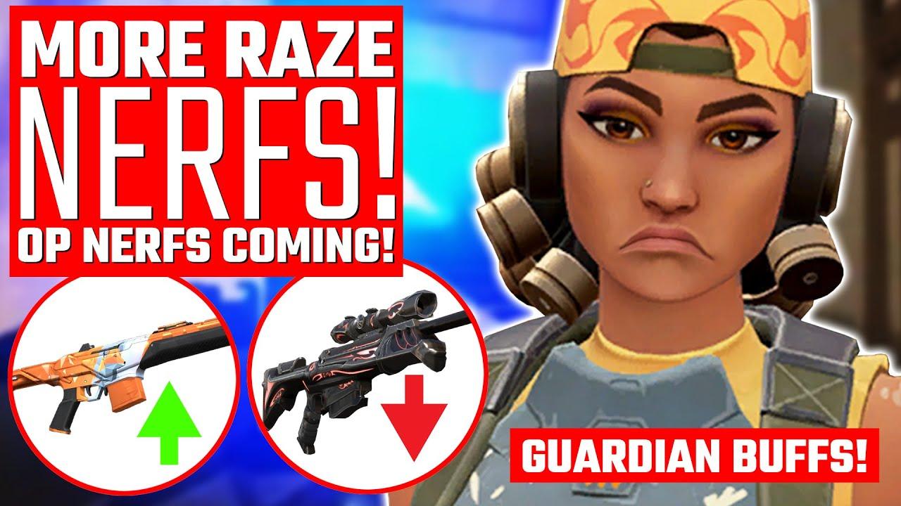 Valorant: Operator NERFS Coming! - Raze NERFS & Guardian BUFFS!