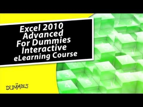 Excel 2010 Advanced For Dummies eLearning Course - YouTube