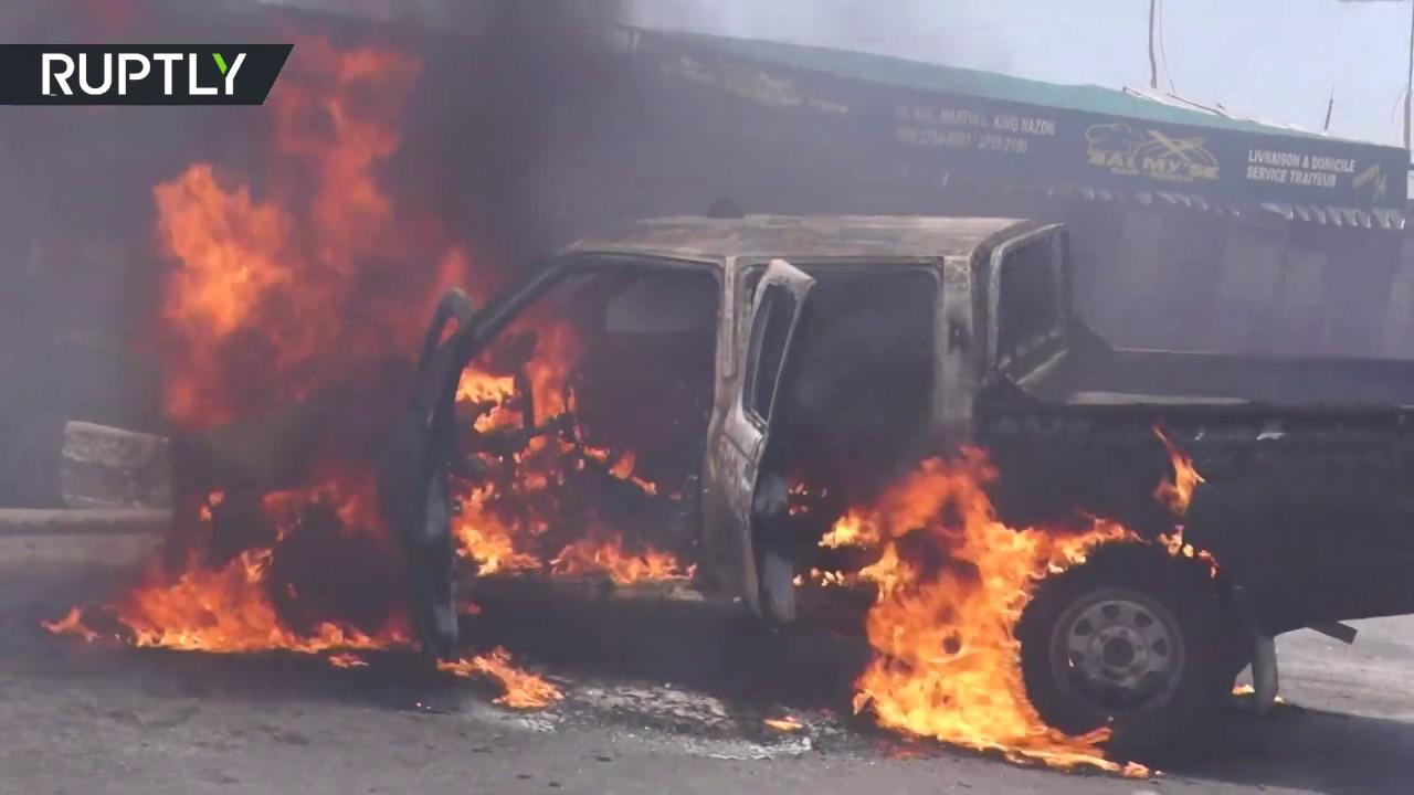 Riot police open fire at anti-govt protest in Haiti
