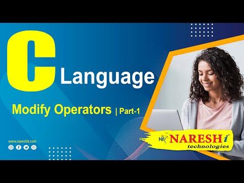 Modify Operators in C Programming (Part-1) by Mr. Srinivas