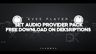 Audio Provider Pack|| Avee Player Template || By Trap Project Indo HD (Free To Use THR Hari Raya)