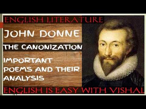 #6 THE CANONIZATION- JOHN DONN/Lt grade/ UP TGT PGT/DSSSB/KVS/NVS/English Literature/Poem Analysis