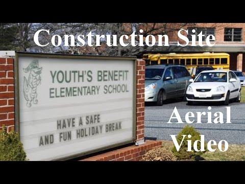 Youth's Benefit Elementary Construction Site AERIAL TOUR, Fallston Maryland 21047