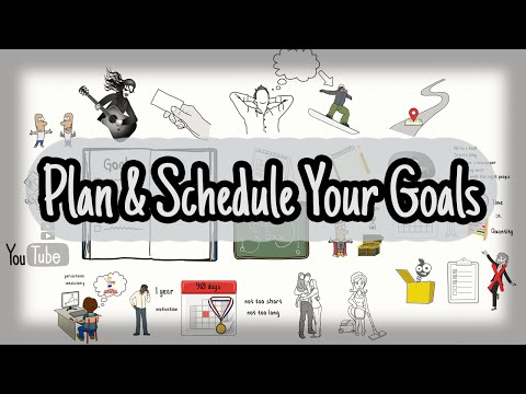 Plan & Schedule Your Goals - Make Your Goals Happen