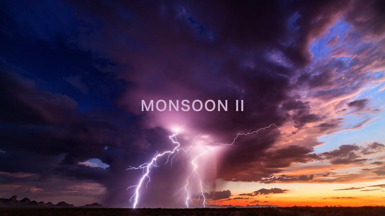 Ahora nos viajamos desde Francia hasta los EE.UU., concretamente al estado de Arizona. Allí las tormentas son frecuentes y dejan caer muchos rayos y litros por metro cuadrado. El vídeo está realizado con la técnica del timelapse, es decir, una sucesión de fotografías tomadas cada X tiempo. Al reproducir de forma continua esas fotografías, se origina un movimiento acelerado.  Los datos de la película son impresionantes. 17.000 millas recorridas (unos 27.359 km) 48 días en total persiguiendo tormentas 105.000 fotogramas time-lapse, aproximadamente 55.000 fotogramas hicieron el corte final. Verlo a pantalla completa
