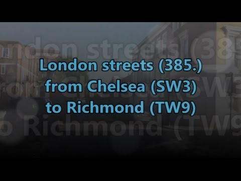 London streets (385.) - Chelsea (SW3) - Chiswick (A4) - Richmond (TW9)