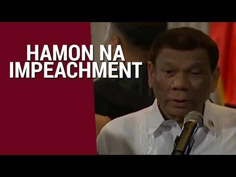 Duterte, nagalit sa mga nagbanta ng impeachment laban sa kanya | SONA