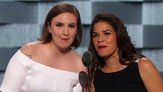 Lena Dunham and America Ferreras entire DNC speech