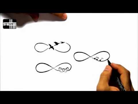 How To Draw 4 Infinity  – Tattoo Design Style Amazing