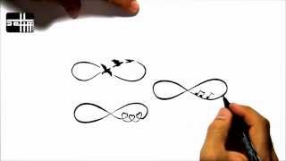 How To Draw 4 Infinity  - Tattoo Design Style Amazing