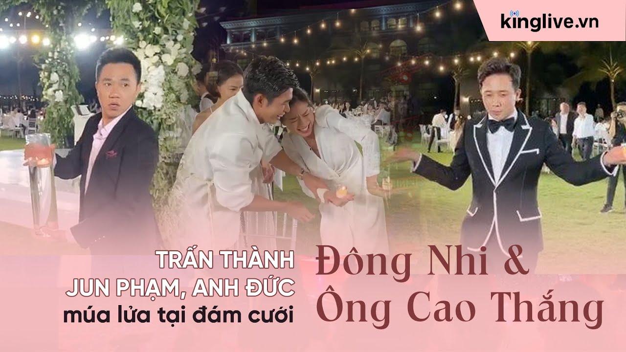Trấn Thành, Jun Phạm, Anh Đức múa lửa tại đám cưới Đông Nhi - Ông Cao Thắng | Source: Tai Anh Nguyen