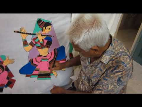 Batik painting by Artist Durlabhji Makwana