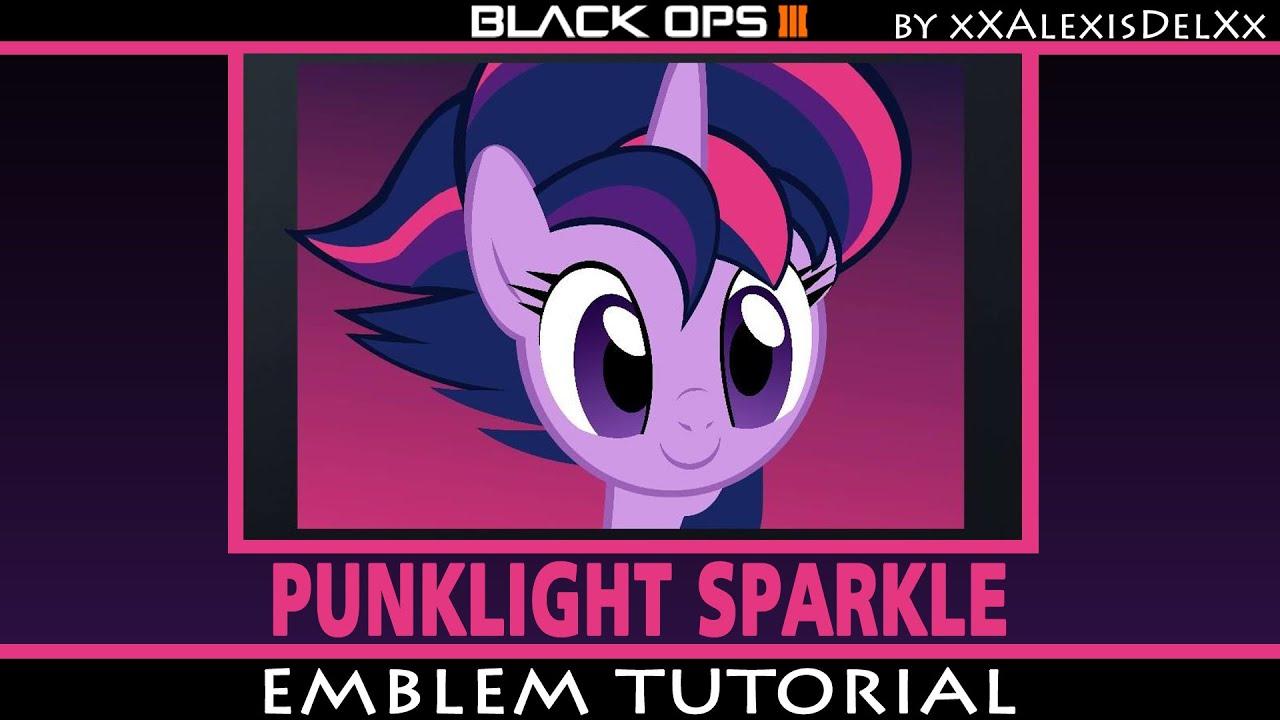 black ops 3 emblem tutorial my little pony punklight sparkle