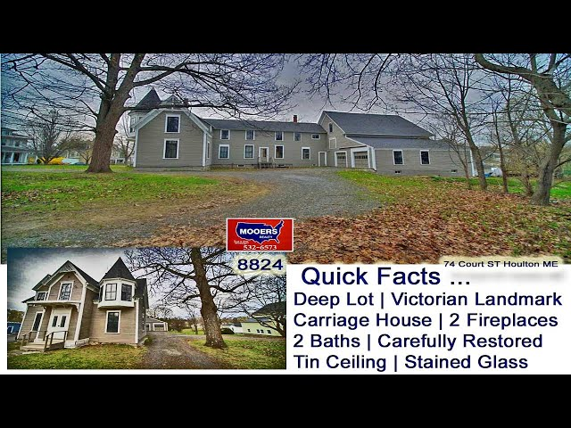 Victorian Home For Sale In Houton ME Video | Maine Real Estate MOOERS REALTY 8824