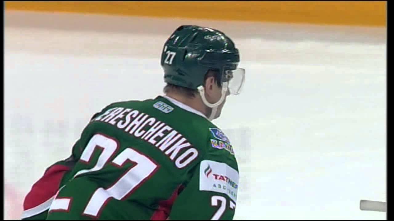 Гол Терещенко с рикошета от борта / Tereschenko scores off rebound from the boards