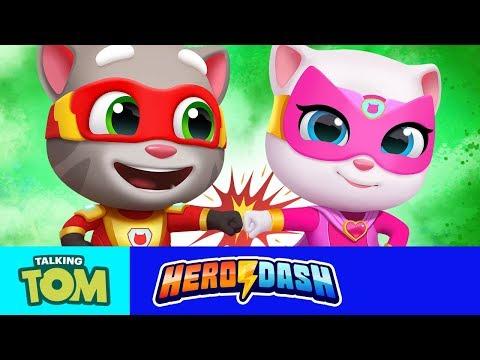 ⚡ Teamwork Is A Superpower! ⚡ NEW Talking Tom Hero Dash Game Update