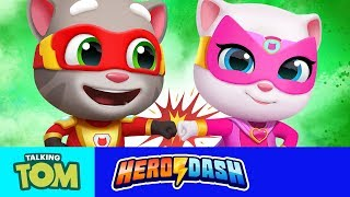 ⚡ Teamwork is a Superpower! ⚡ NEW Talking Tom Hero Dash Game Update