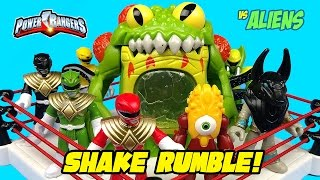 Imaginext Power Rangers vs Aliens Shake Rumble Match with Power Rangers Toys Unboxing!