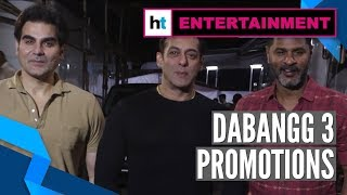 Dabangg 3: Salman Khan, Sonakshi Sinha, Prabhu Deva promote upcoming film