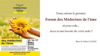 Forum des Médecines de l'âme, nous avons besoin de vous !
