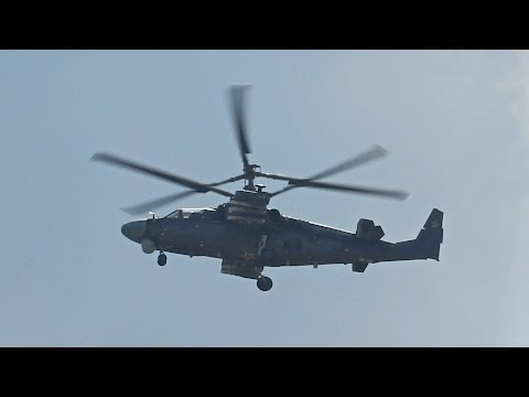Kamov KA-52 Alligator Hokum-B flying Display at 100 Years Russian Air Force 2012 AirShow