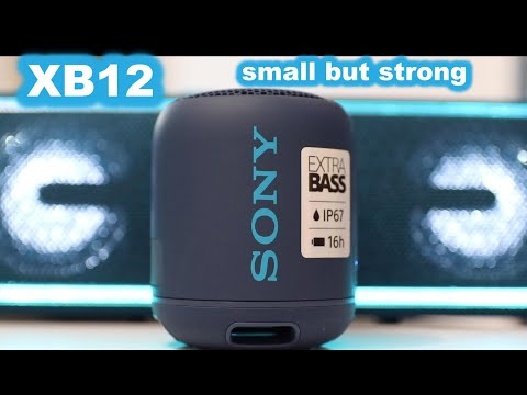 SONY SRS XB12 review – small but strong