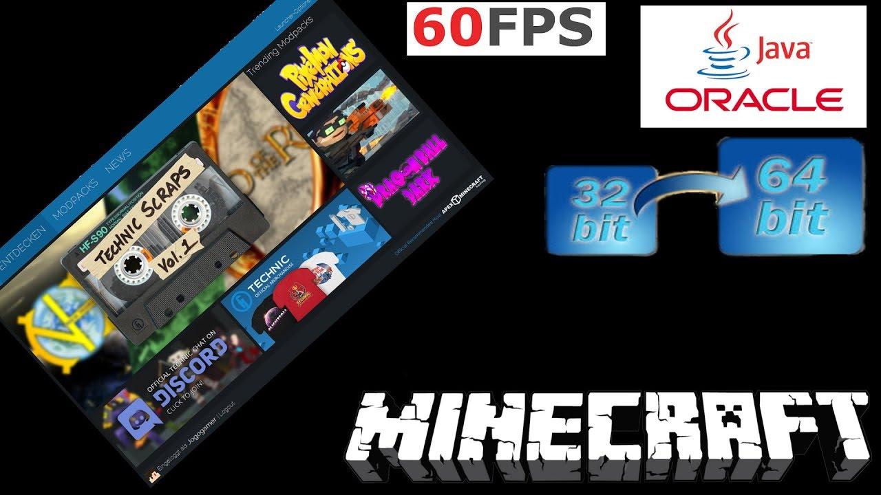JAVA Bit Bit Modpacks Flüssig Spielen YouTube - Minecraft flussig spielen