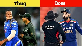 Top 10 Thugs of Cricket History ||  Thugs Life Moments in Cricket || By The Way