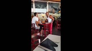 Прикол. Кличко и Бригс, перепалка в ресторане. Драка